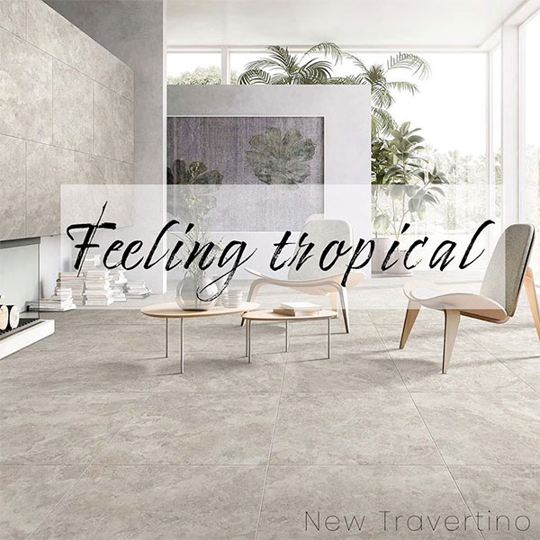 New Travertino floor tiles